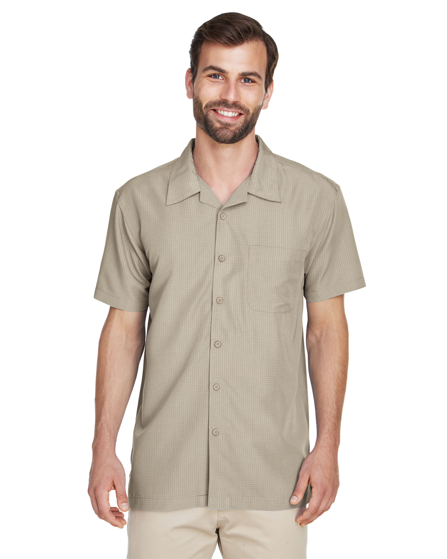 b255171666ea2 Harriton M560 - Men s Barbados Textured Camp Shirt