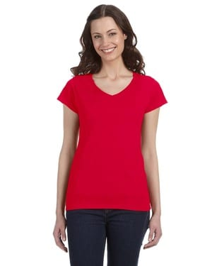 Gildan G64VL - Softstyle® Ladies 7.5 oz. Junior Fit V-Neck T-Shirt
