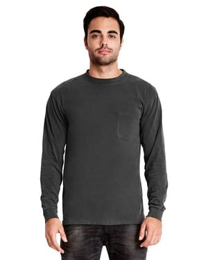 Next Level 7451 - Adult Inspired Dye Long Sleeve Crew with Pocket