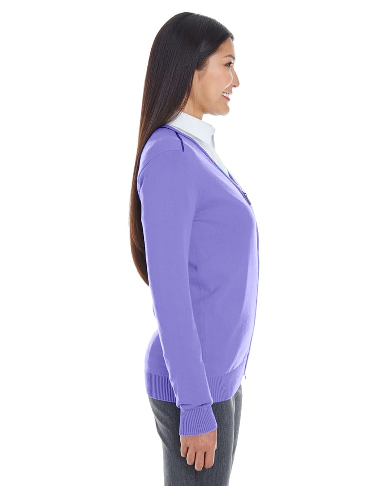 036bde32c1 Devon   Jones DG478W - Ladies Manchester Fully-Fashioned Full-Zip Sweater